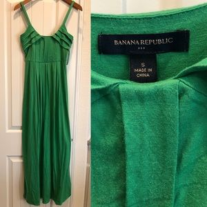Emerald Banana Republic  maxi dress